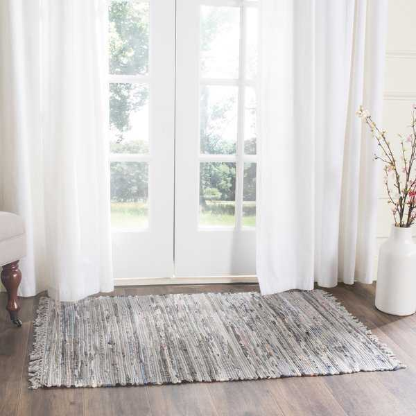 Safavieh Hand-woven Rag Rug Grey Cotton Rug - 3' x 5'