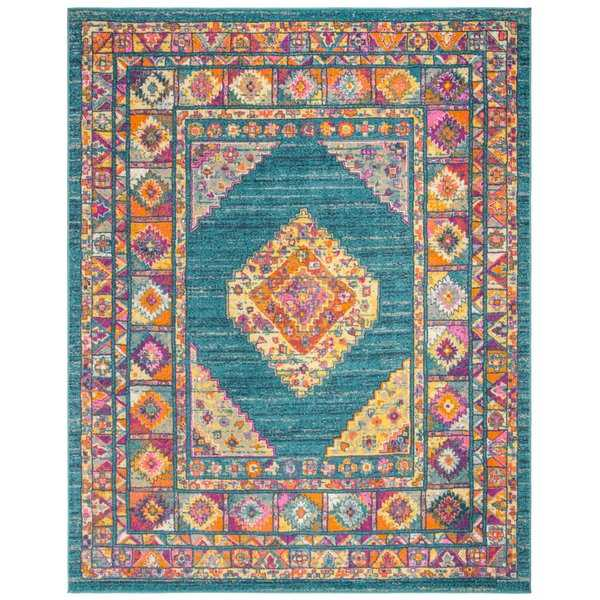 Safavieh Madison Vintage Light Blue / Orange Rug - 8' x 10'