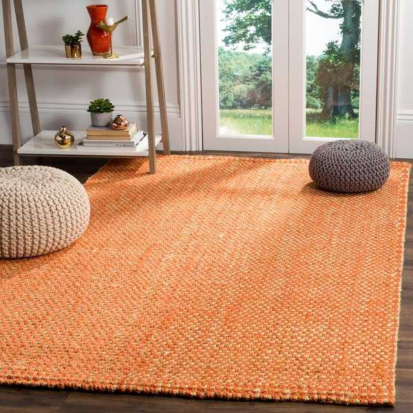 Safavieh Natural Fiber Contemporary Handmade Rust / Natural Jute Rug - 8' x 10'