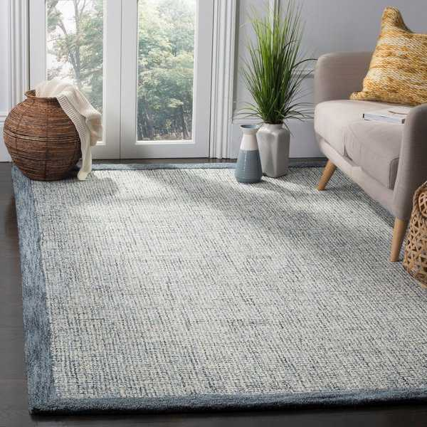 Safavieh Abstract Handmade Navy/ Ivory Rug - 8' x 10'