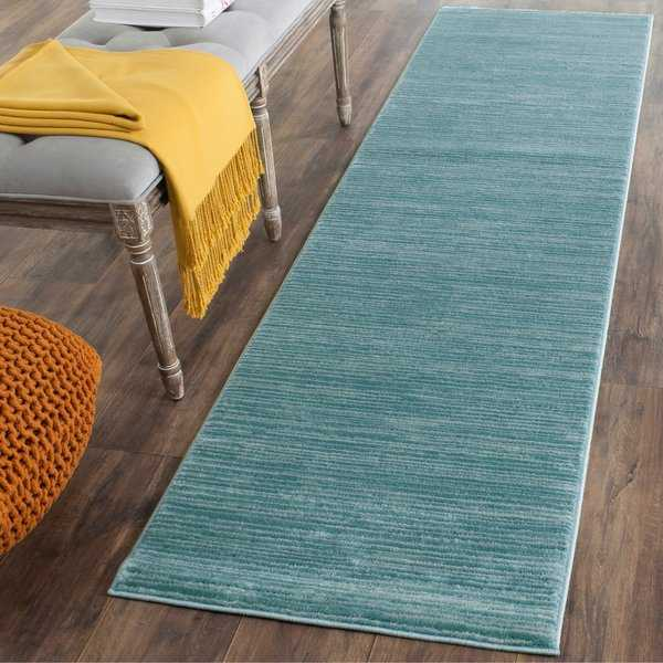 Safavieh Vision Contemporary Tonal Aqua Blue Area Rug - 2'2' x 8'