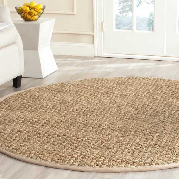 Safavieh Casual Natural Fiber Natural / Beige Seagrass Rug - 4' x 4' Round