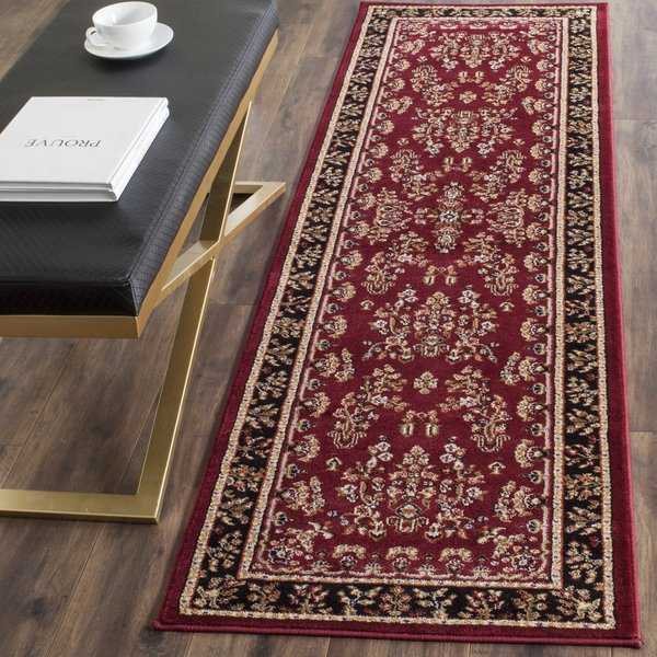 Safavieh Lyndhurst Traditional Oriental Red/ Black Runner (2'3 x 6') - 2'3' x 6'